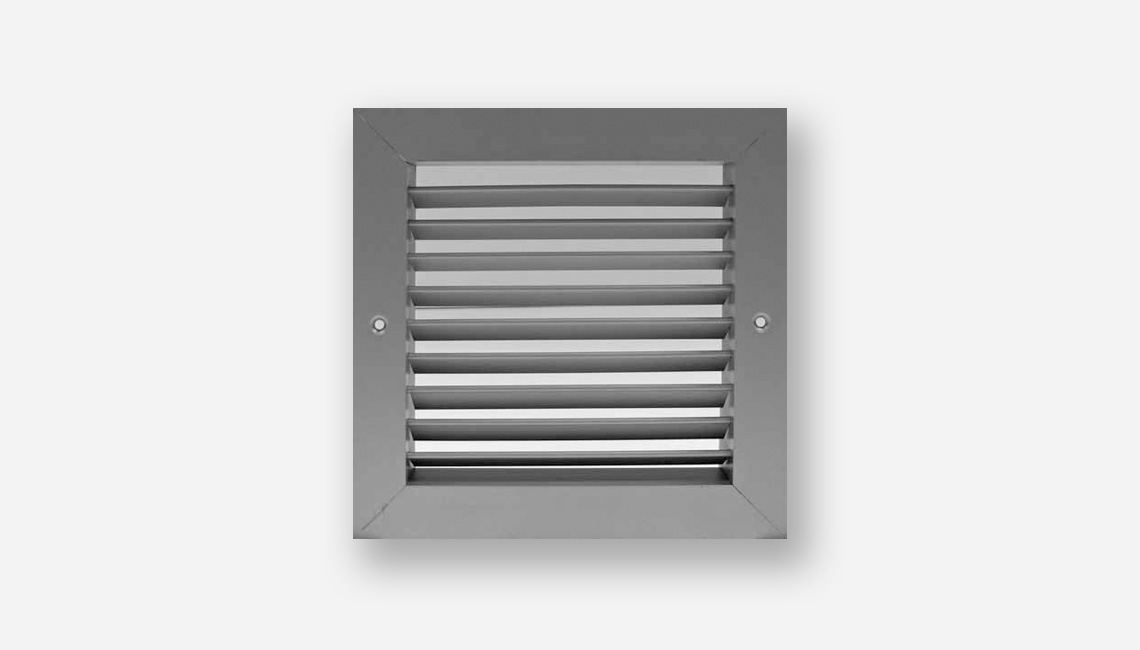 Double Deflection Grille With Damper : Aluminium vent company